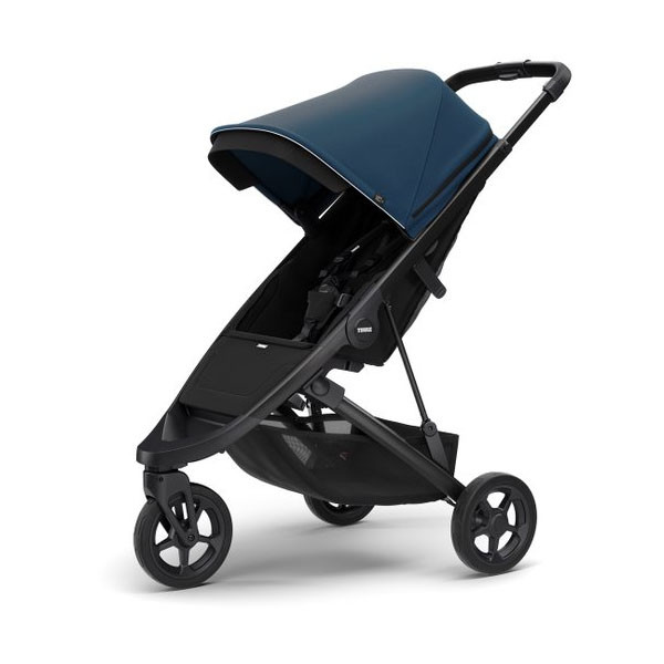Прогулочная коляска Thule Spring Black/Majolica Blue (TH 11300200-11300303)