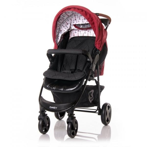 Прогулочная коляска Lorelli Daisy Set, с автокреслом, черный с красным (23028)