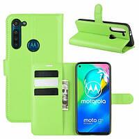 Чехол Fiji Luxury для Motorola Moto G8 Power книжка зеленый