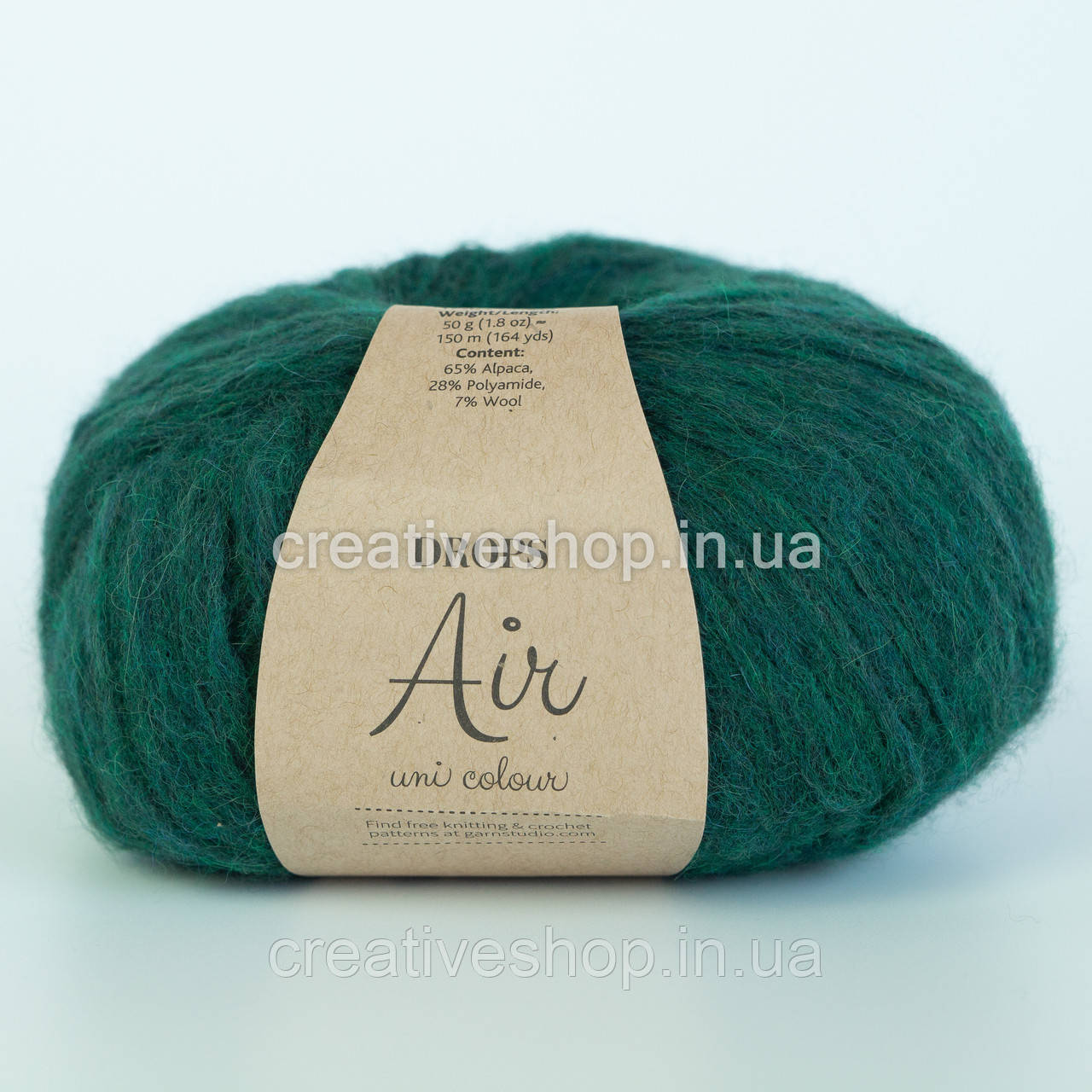 Пряжа Drops Air Uni (цвет 19 forest green)