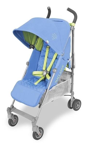 Прогулочная коляска Maclaren Quest Marina Limeadea, голубой с салатовым (WD1G040582)