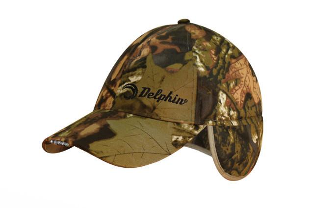 Зимняя кепка, кепка зимняя Delphin с встроенным LED фонариком