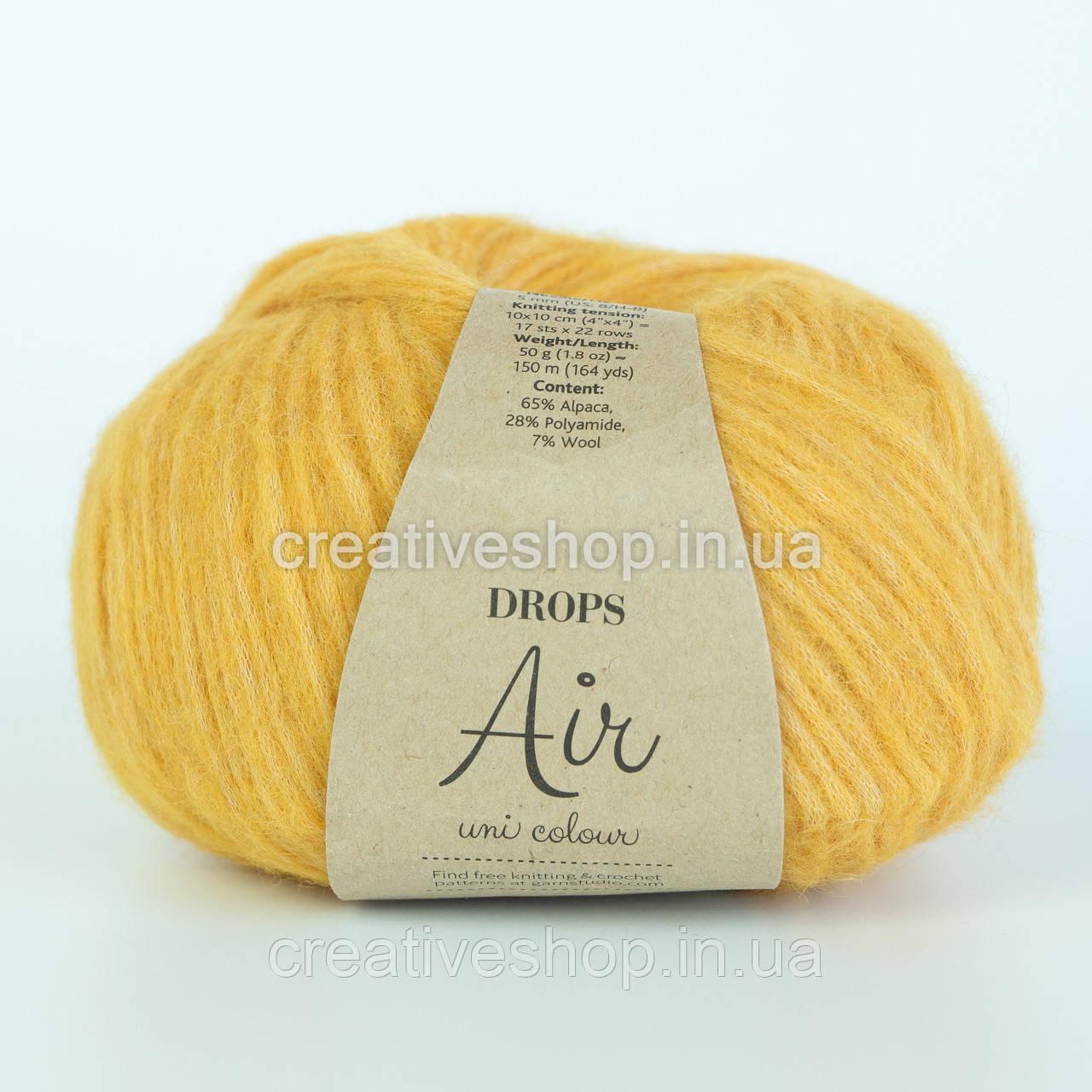 Пряжа Drops Air Uni (цвет 22 yellow)