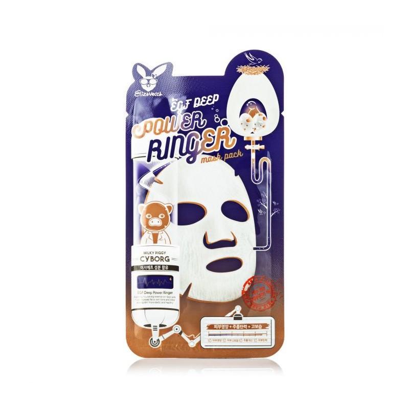 Активная тканевая маска для лица с эпидермальным фактором роста EGF Elizavecca Deep Power Ringer Mask Pack
