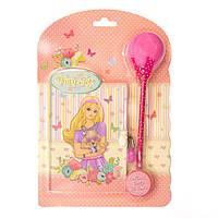 """Блокнот детский с ручкой-помпоном  """"Принцесса"""" на замочке (BP64-0612)"""
