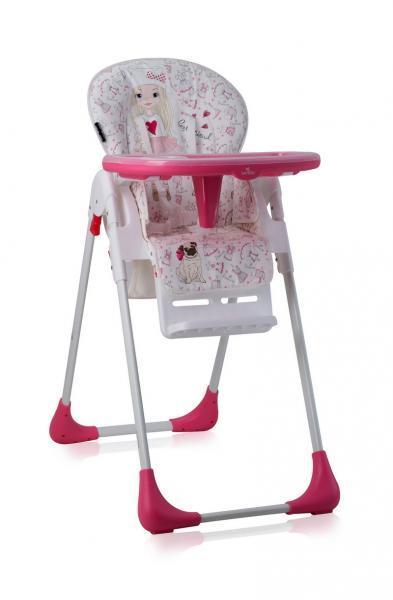 Стульчик для кормления Lorelli Tutti Frutti Pink Girl, белый с розовым (20852)