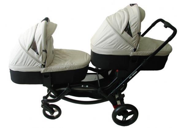 Универсальная коляска 2 в 1 для двойни ABC Design Zoom Sheep, бежевый (71311/605К1)