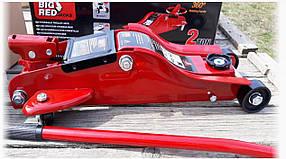 Домкрат автомобильный подкатной профессиональный низкий профиль 89-359 2т/2.5т с поворотной ручкой TORIN