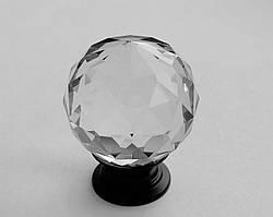 Ручка мебельная Crystal Palace 30мм Черная/Кристалл