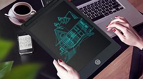 """Графічний планшет дошка Primo TCR072 12"""" для малювання і заміток - Black"""