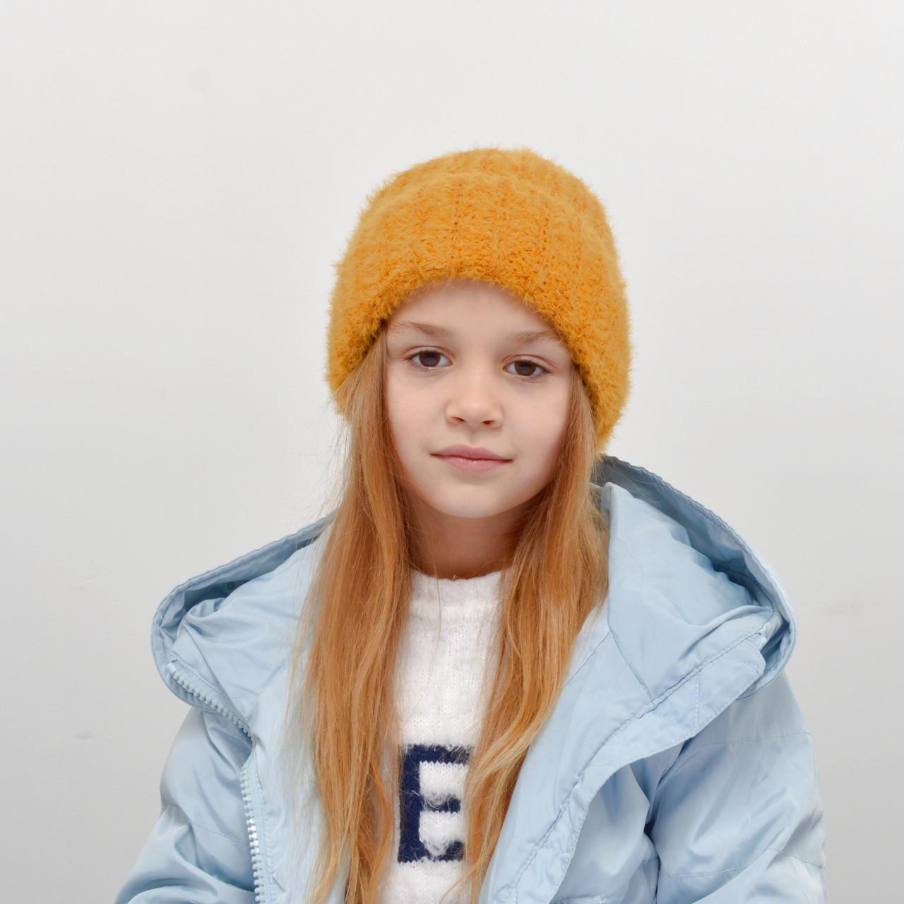 Детская шапка NordNeo 3432 горчица
