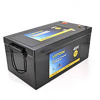 Аккумуляторная батарея Vipow LiFePO4 51,2V 50Ah  со встроенной ВМS платой 40A