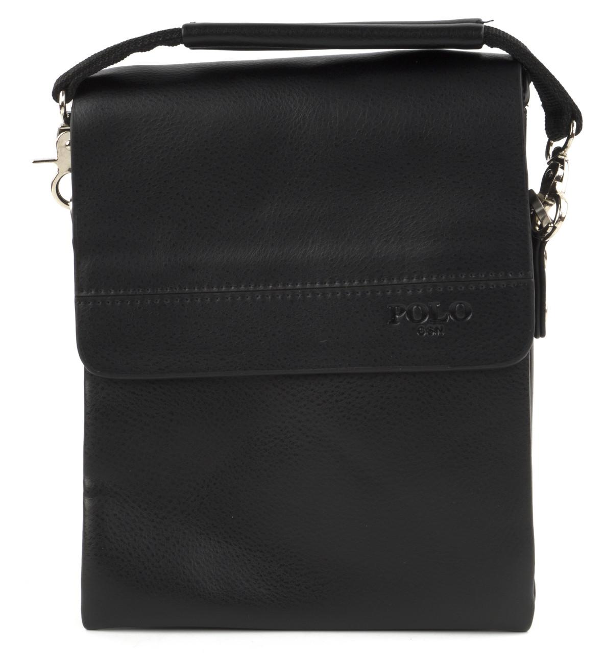 Удобная мужская стильная сумка Polo art. 3385-1 черный