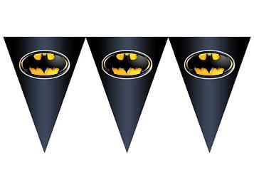 """""""Бетмен: Чёрный"""" - Вымпел, 15 флажков."""