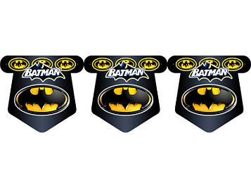 """Бетмен: Чёрный"" - Флажки, 12 флажков."