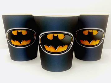 """""""Бетмен: Чёрный"""" - Стаканчики 250 мл."""