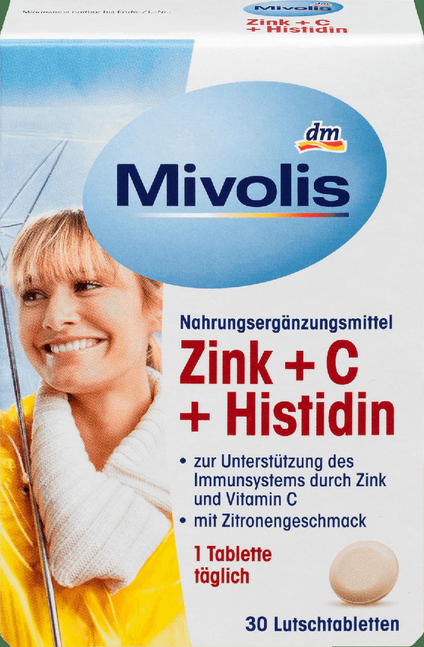 Биологически активная добавка Mivolis Zink + C Histidin, 30 шт.