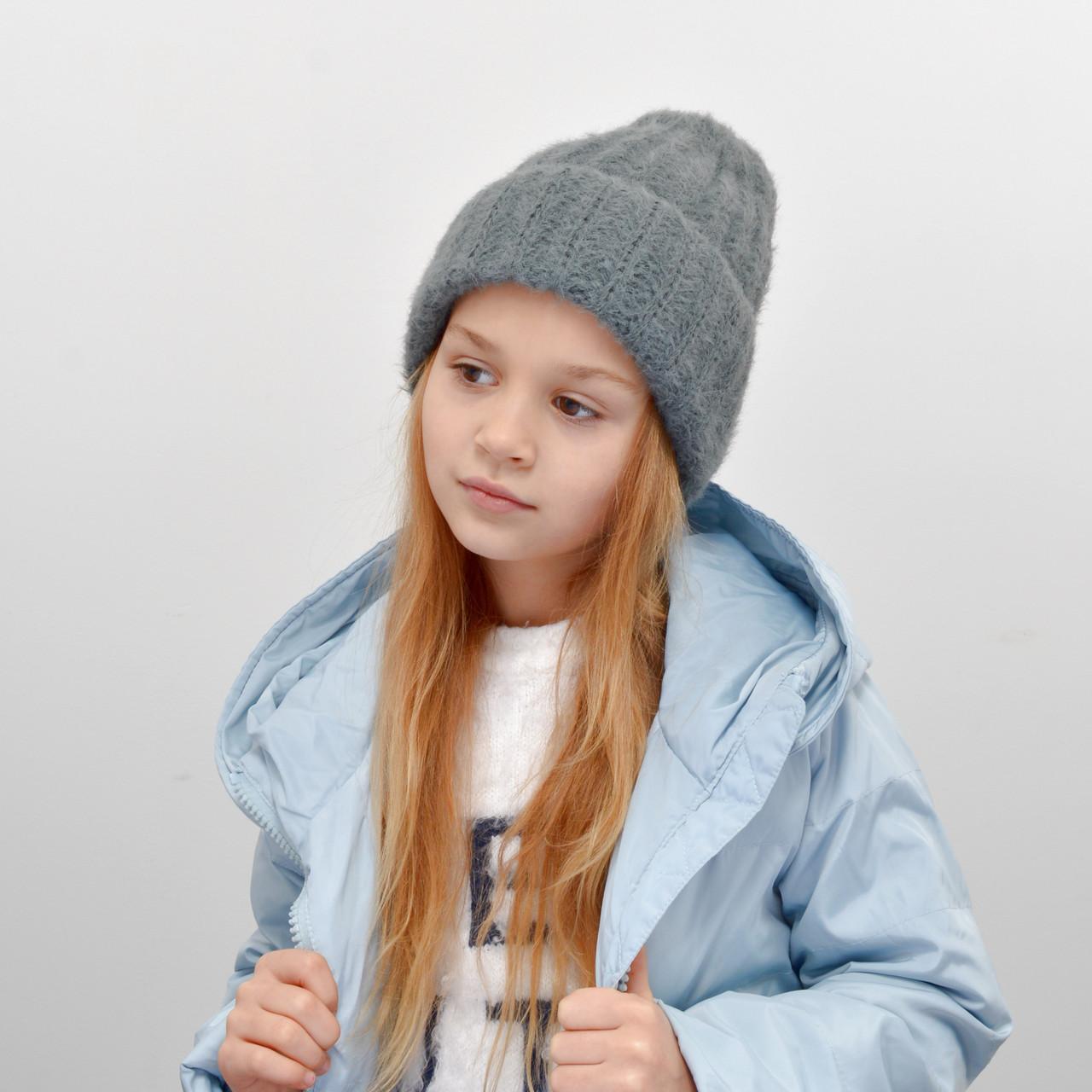 Дитяча шапка NordNeo 3432 темний сірий
