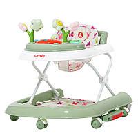 Ходунки детские CARRELLO Fiore CRL-9606 Green 3 в 1 (ходунки, гойдалка, каталка) /1/ MOQ
