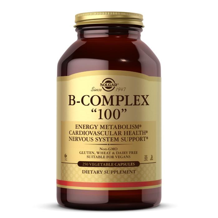 """Комплекс витаминов группы Б Solgar B-Complex """"100"""" (250 veg caps)"""