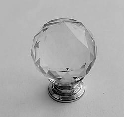 Ручка мебельная Crystal Palace 30мм Хром/Кристалл