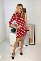 Женское стильное платье с ромбами, фото 1
