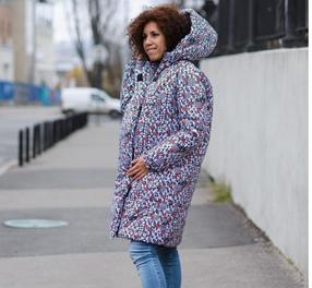 Зимняя куртка для беременных оверсайз размер 42-46