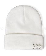 Белая шапка с кольцами, фото 2