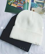 Белая шапка с кольцами, фото 3