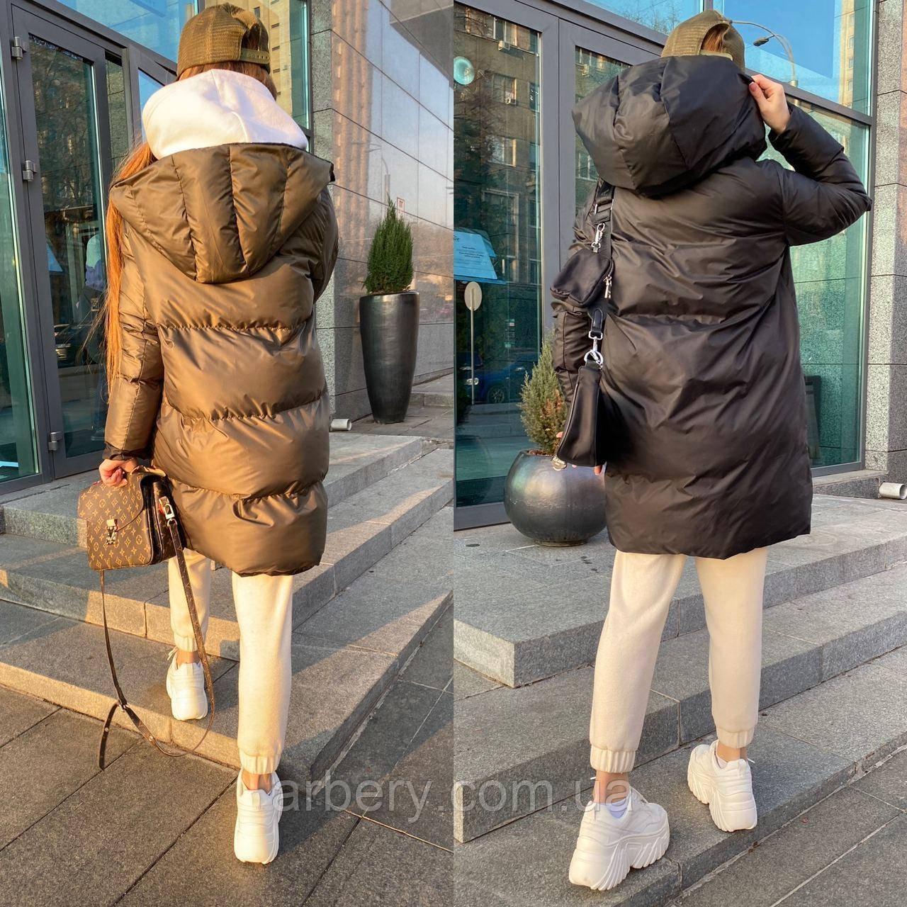 Шикарная зимняя двухсторонняя куртка