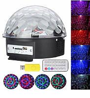 Музыкальный диско - шар с Bluetooth, USB, светомузыкой, динамиками и пультом, светомузыка Mp3 ball