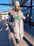Женская  зимняя куртка с капюшоном из эко кожи, фото 2