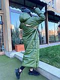 Женская  зимняя куртка с капюшоном из эко кожи, фото 4