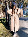Женская  зимняя куртка с капюшоном из эко кожи, фото 9