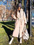 Женская  зимняя куртка с капюшоном из эко кожи, фото 10