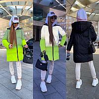 Шикарная рефлекторная двухсторонняя куртка, фото 1