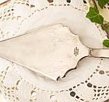Красивая посеребренная лопатка для торта или десертов, для сервировки десертного стола, мельхиор, Англия, фото 5