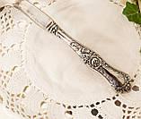 Красивая посеребренная лопатка для торта или десертов, для сервировки десертного стола, мельхиор, Англия, фото 4
