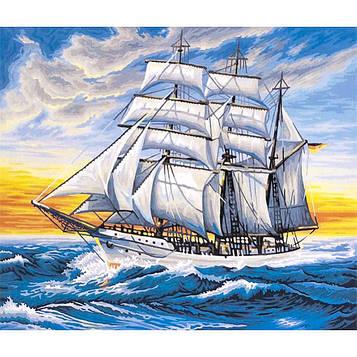 Картина за номерами 40х50 см DIY Вітрильник на хвилях (FX 30392)