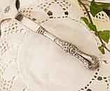 Красивая посеребренная лопатка для торта или десертов, для сервировки десертного стола, мельхиор, Англия, фото 8