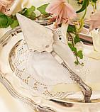 Красивая посеребренная лопатка для торта или десертов, для сервировки десертного стола, мельхиор, Англия, фото 9