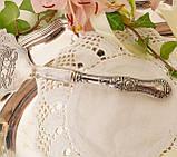 Красивая посеребренная лопатка для торта или десертов, для сервировки десертного стола, мельхиор, Англия, фото 10