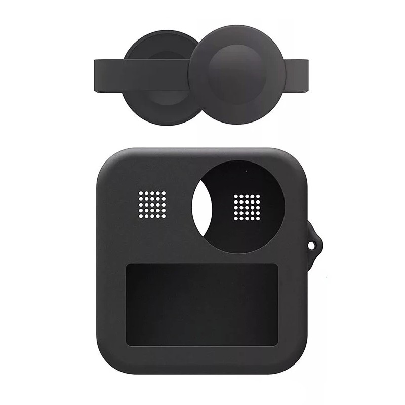 Силиконовый чехол + защита на объективы Telesin для GoPro Max черный