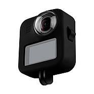Силиконовый чехол + защита на объективы Telesin для GoPro Max черный, фото 3