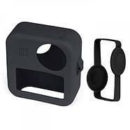 Силиконовый чехол + защита на объективы Telesin для GoPro Max черный, фото 5