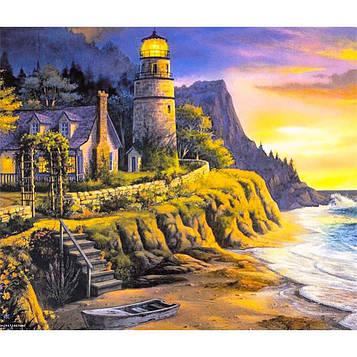 Картина за номерами 40х50 см DIY Край світу з будиночком у моря (FX 30486)