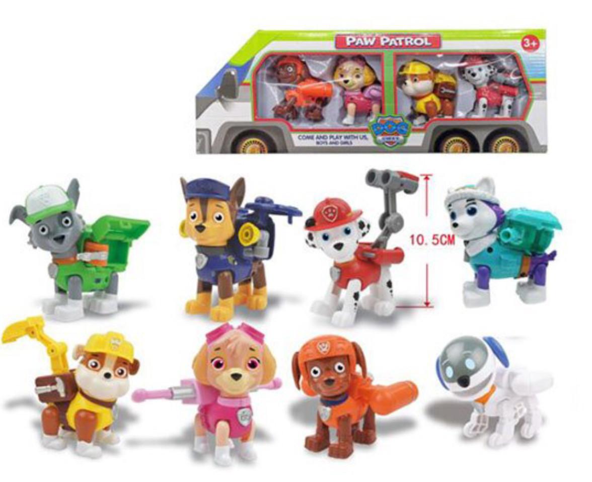 Набор игрушек Щенячий Патруль 8 шт. Состав всех персонажей.