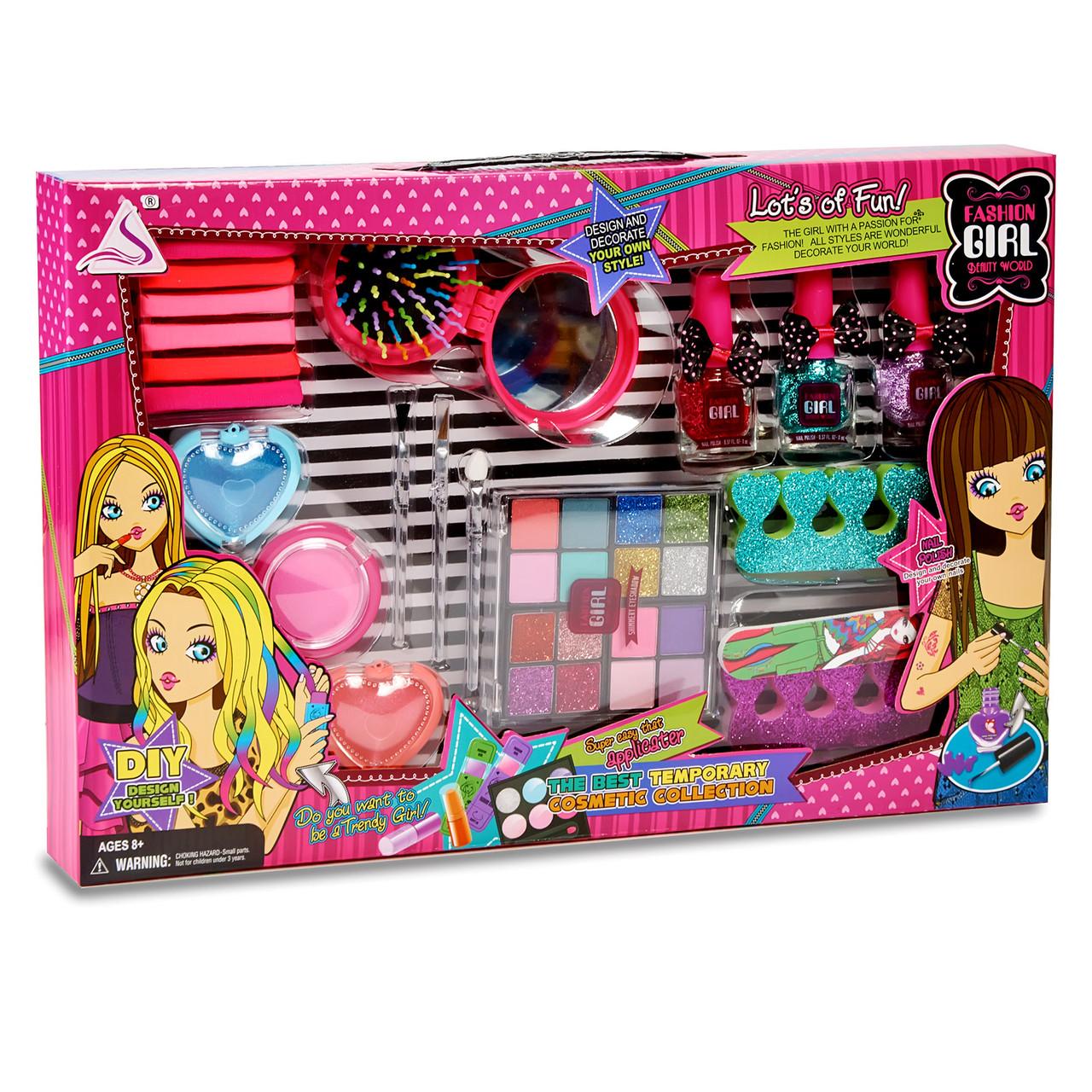 Ігровий набір косметики для дівчинки. Набір юної візажисток. Дитяча косметика.Набір для дівчаток.