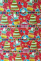Бумага для упаковки новогодних подарков  , размер 707х1000 мм