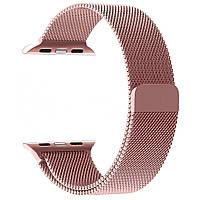 Магнитный ремешок Milanese Loop для Apple Watch 42 / 44 | Pink Rose | DK